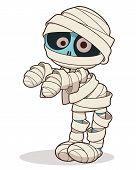 pic of mummy  - Cartoon stand mummy - JPG