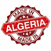 foto of algeria  - made in Algeria red stamp isolated on white background - JPG