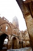 stock photo of cold-war  - Belchite village destroyed in a bombing during the Spanish Civil War - JPG