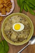 pic of sorrel  - Sorrel soup with egg and greens - JPG