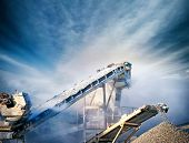 stock photo of crusher  - Construction industry background  - JPG