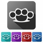 foto of brass knuckles  - Set Flat icons of brass knuckles - JPG