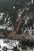 foto of mudslide  - Mudslides scar the hillsides of Washington state following heavy rain on top of snow - JPG