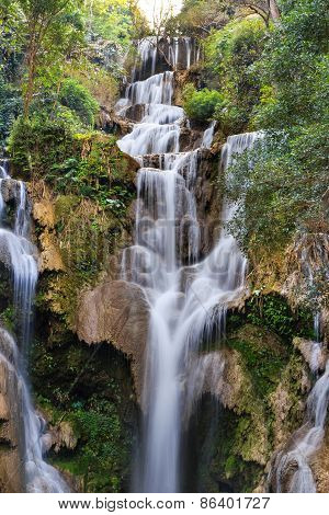 Tat Kuang Si Waterfalls At Luang Prabang, Laos