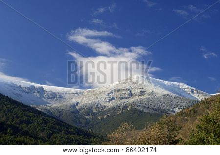 Moncayo summit, 2316 m., Moncayo Natural Park, Zaragoza, Aragon, Spain