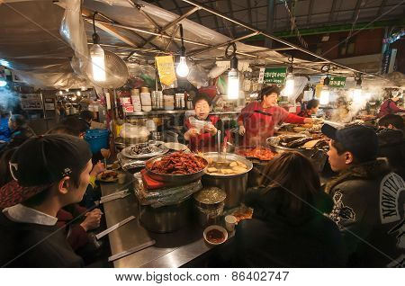 Gwangjang Traditional Market.
