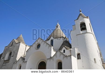 St. Antonio Trullo Church. Alberobello. Apulia.