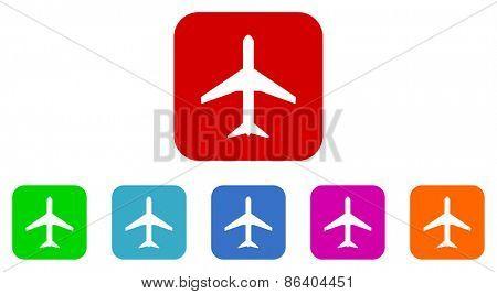 airplane vector icon set