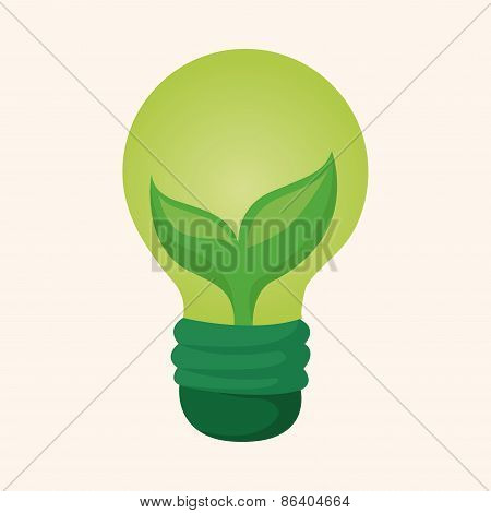 Environmental Protection Concept Theme Elements; Saving Energy, Turning Off Lights