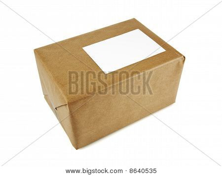 Parcel Isolated On White