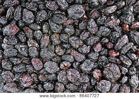 Raisins black texture