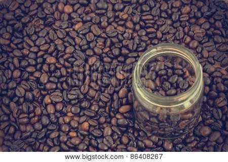coffee beans background.