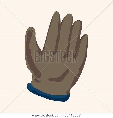 Working Gloves Theme Elements