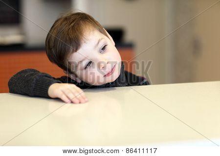 Child Waiting For Dessert