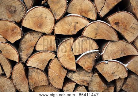 Firewood Texture. Picture Can Be Used As A Background