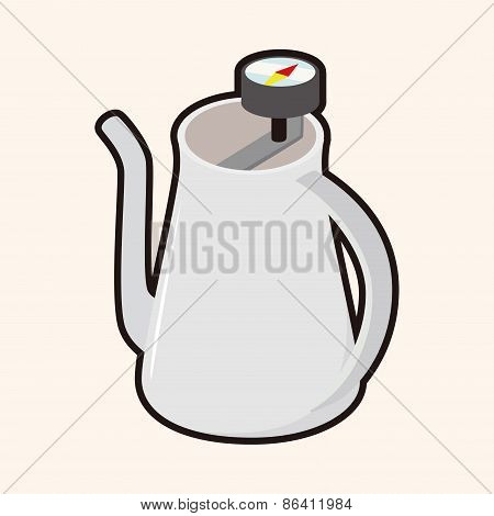 Coffee Kettle Theme Elements