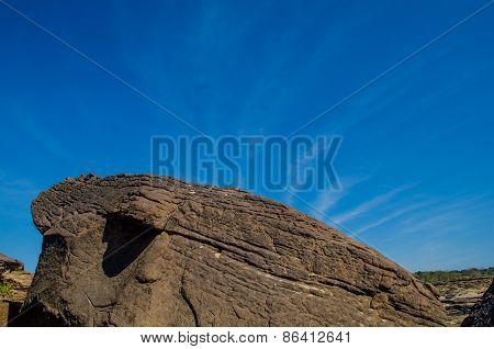 Rocks of the Sam Phan Bok in Thailand