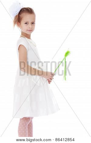 Girl in a white dress