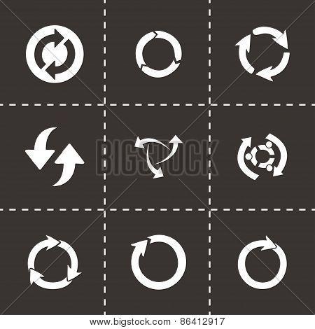 Vector refresh icons set