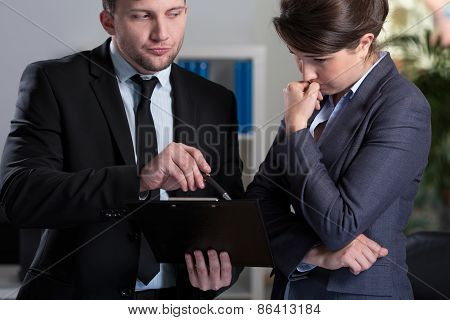 Woman Is Stressed In The Office