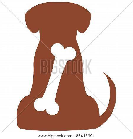 Vector illustration of dog on white background