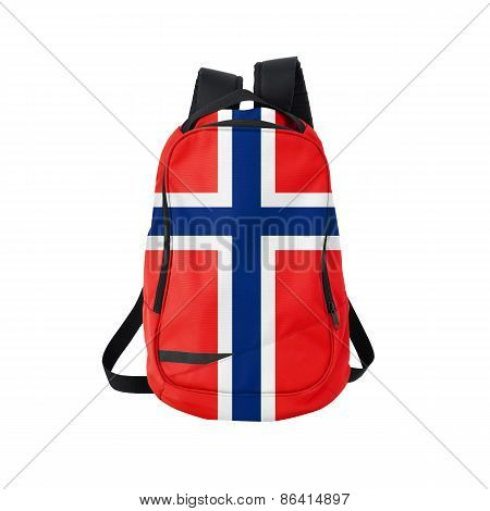 Norway Flag Backpack Isolated On White
