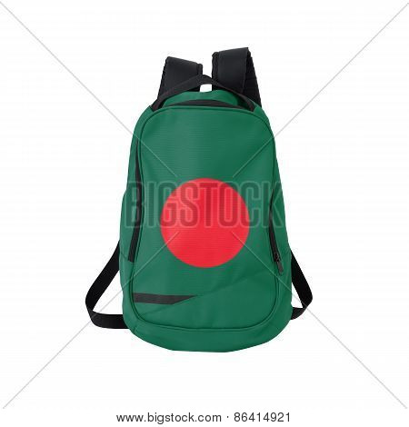 Bangladesh Flag Backpack Isolated On White