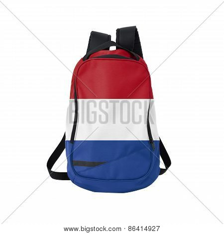 Holland Flag Backpack Isolated On White