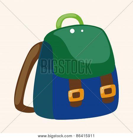 Travel Equipment Backpack Theme Elements