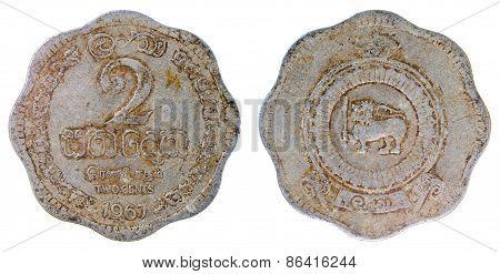 Old Rare Coin Of Ceylon