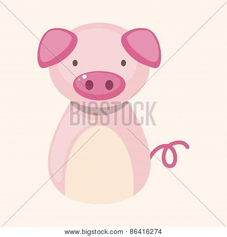Chinese Zodiac Pig Theme Elements
