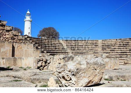 Roman amphitheatre Paphos Cyprus