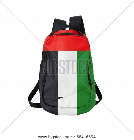 Arab Emirates Flag Backpack Isolated On White