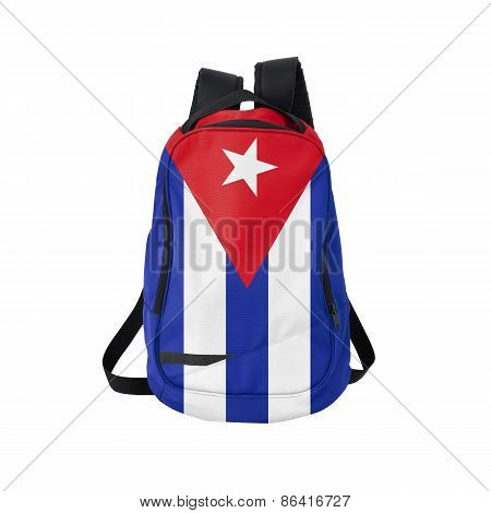 Cuba Flag Backpack Isolated On White