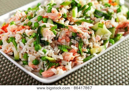 Rice Salad With Salmon