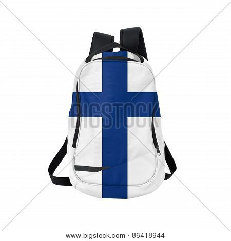 Finland Flag Backpack Isolated On White