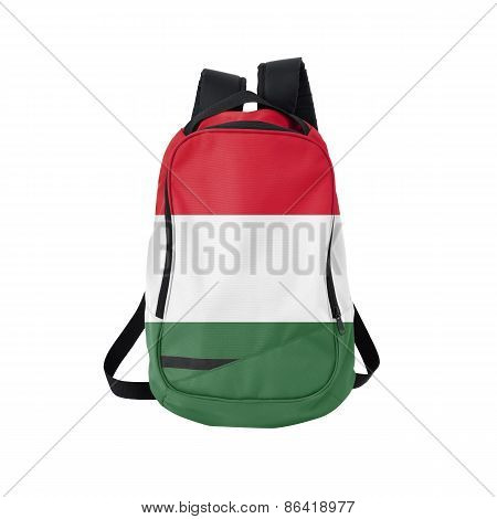 Hungary Flag Backpack Isolated On White