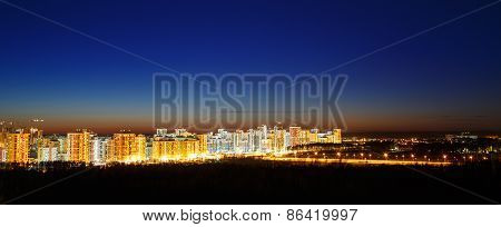 Sunset Over City Buildings View