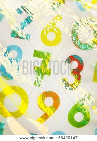 Colourful Numbers As Background