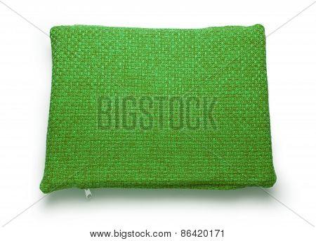 Soft Blank Green Pillow