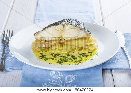 Oven Baked Cod Fish With Potatoes