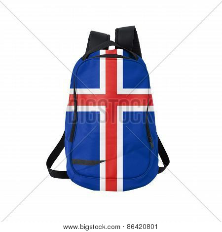 Iceland Flag Backpack Isolated On White