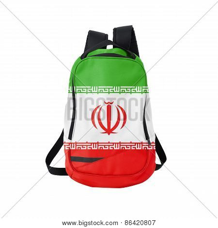 Iran Flag Backpack Isolated On White