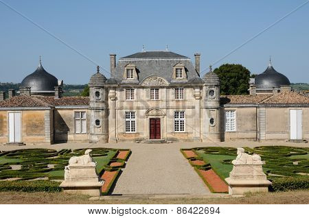 France, The Classical Castle Of Malle In Gironde