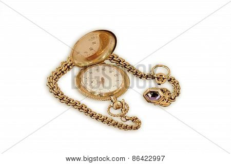 Old Gold Pocket Watch