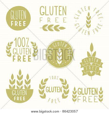 Gluten free badges.
