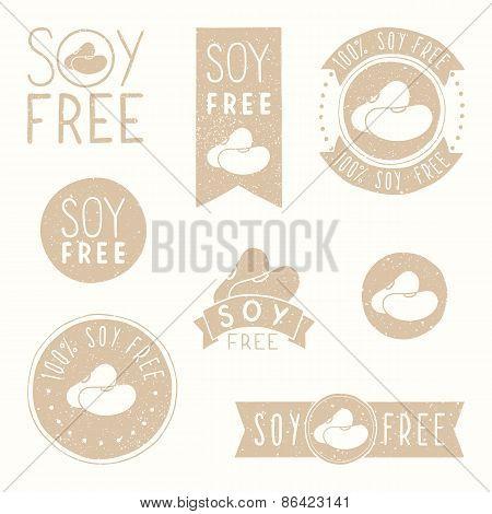 Soy free badges.