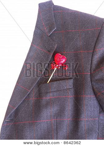 Business jacket with heart