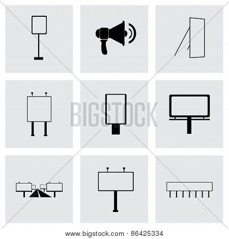Vector advertisement icon set