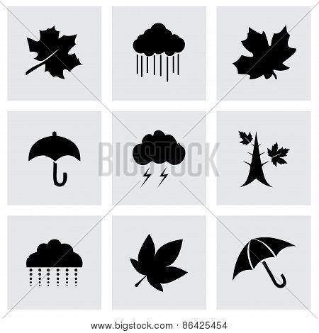 Vector autumn icon set